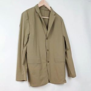 Descente camel blazer jacket L
